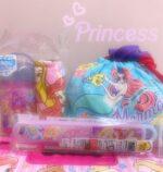 プリンセスおしぼりセット/ランチ巾着/お箸セット
